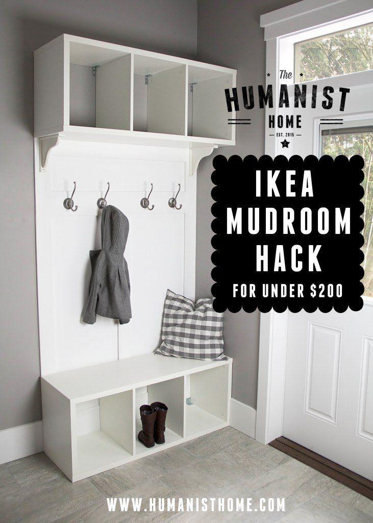 Ikea Mudroom Bench & Storage Unit Hack for Under $200 | Utility ...