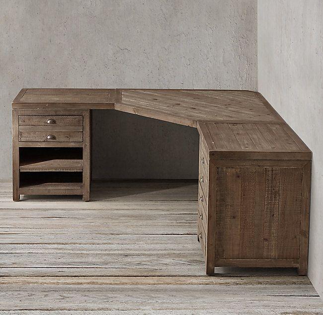 Printmaker S Modular System With Corner Desk Diy Corner Desk Wood Corner Desk Woodworking Desk