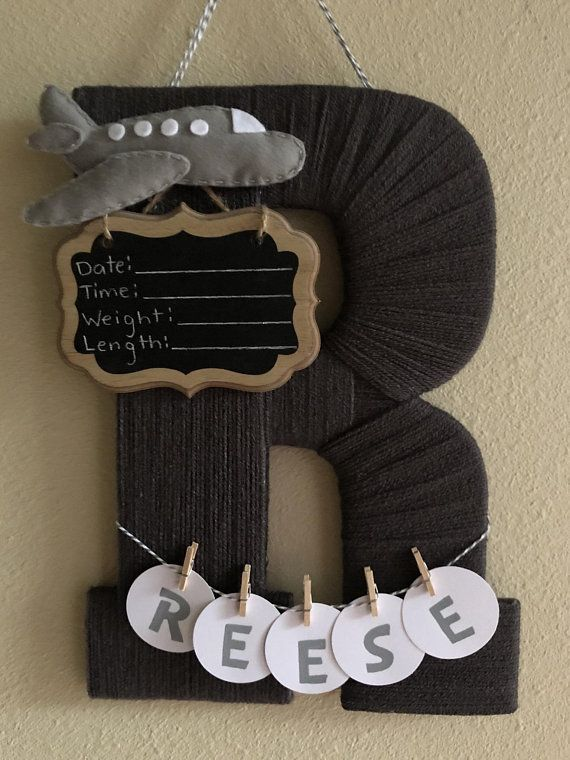 Baby Boy Birth Announcement Door Hangers : birth, announcement, hangers, Birth, Announcement, Hospital, Hanger, Wrapped, Announcement,