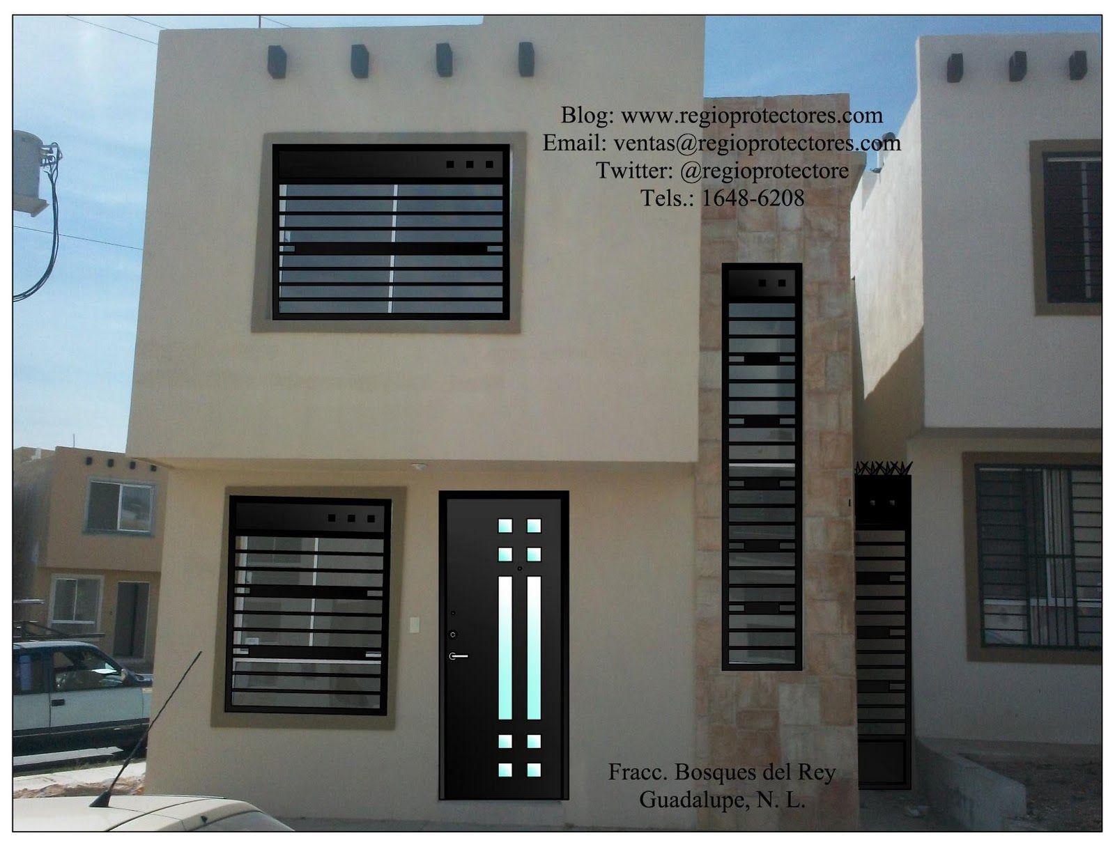 Resultado de imagen para modelos de rejas para ventanas de casas ...