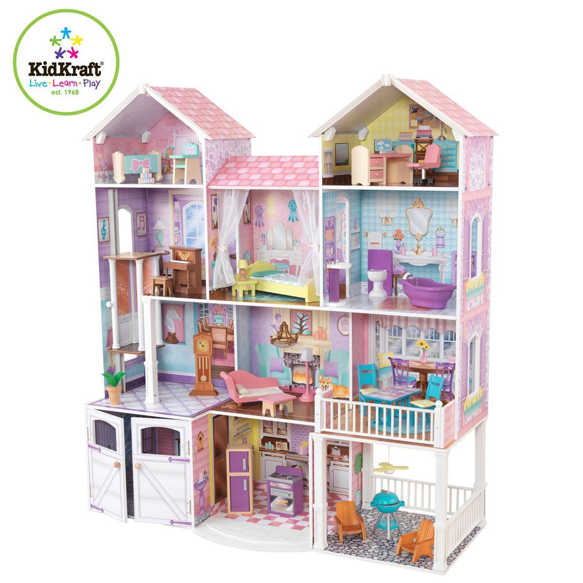Letto A Castello Barbie.Kidkraft Casa Delle Bambole Country Estate Case Delle Bambole