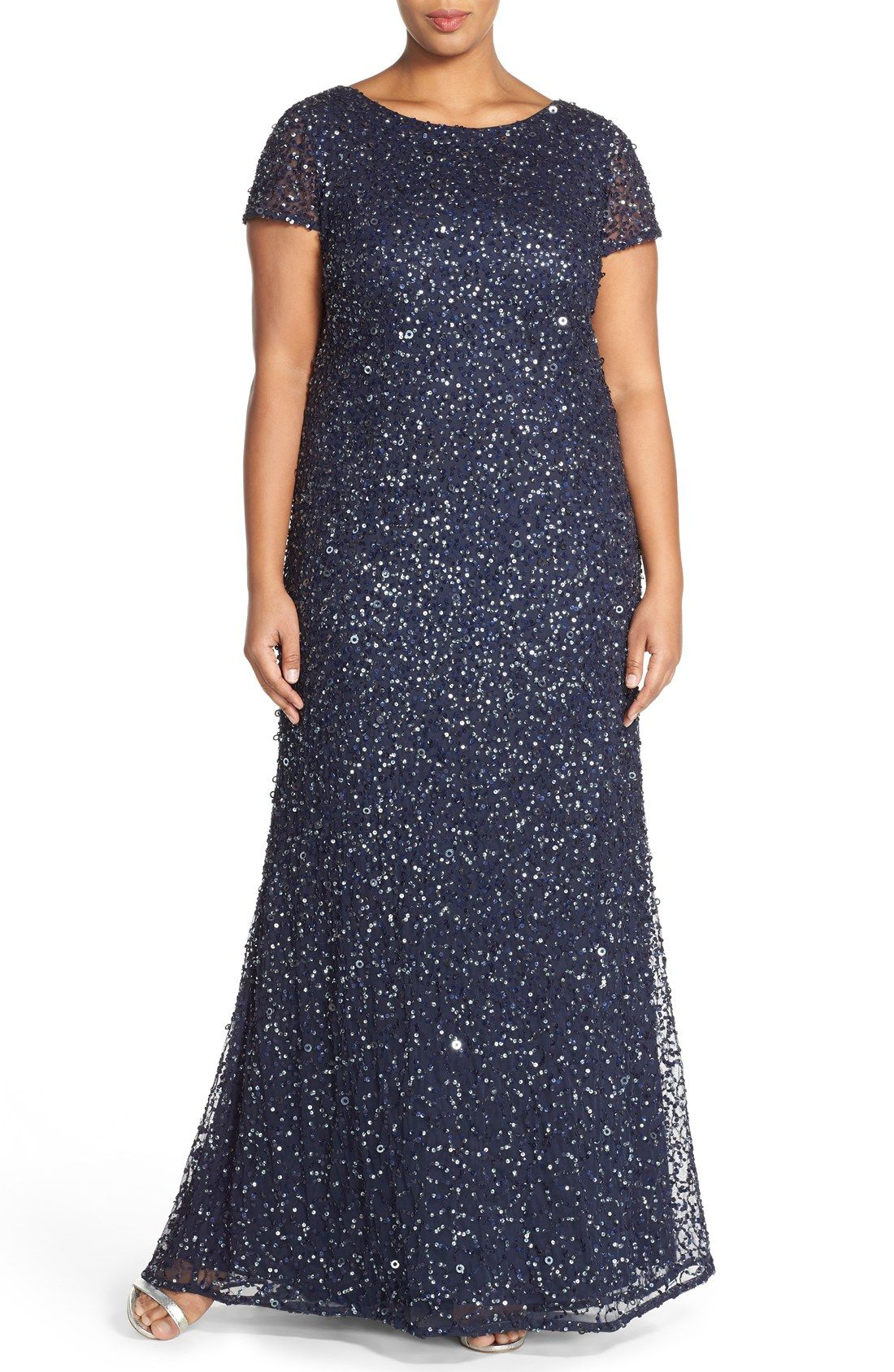 Free shipping and returns on Adrianna Papell Embellished Scoop Back