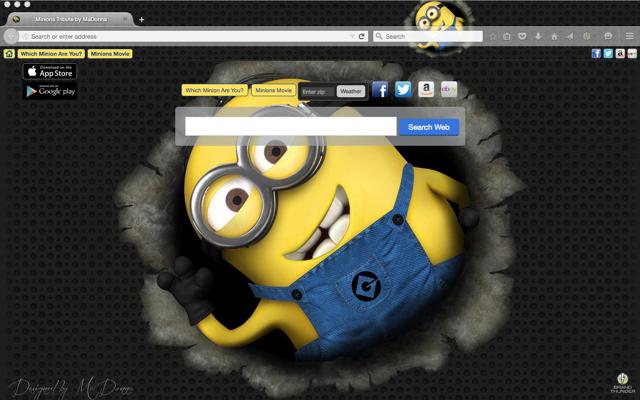 Minions Tribute Chrome Theme Desktop Wallpaper Minions Movie