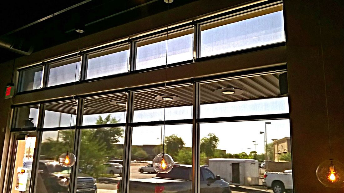 Roller Shade Project for Noodles and Co. at San Tan Mall - Latreia Roller Shades