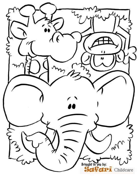 Safari Coloring Page Preschool submited images | Pic 2 Fly ...