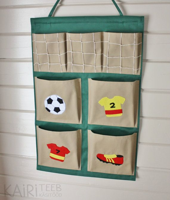 Wall Organizer Hanging Pocket Storage For Books And Toys Soccer Decor For Kids Room Wall Organization Kids Room Cool Diy Projects