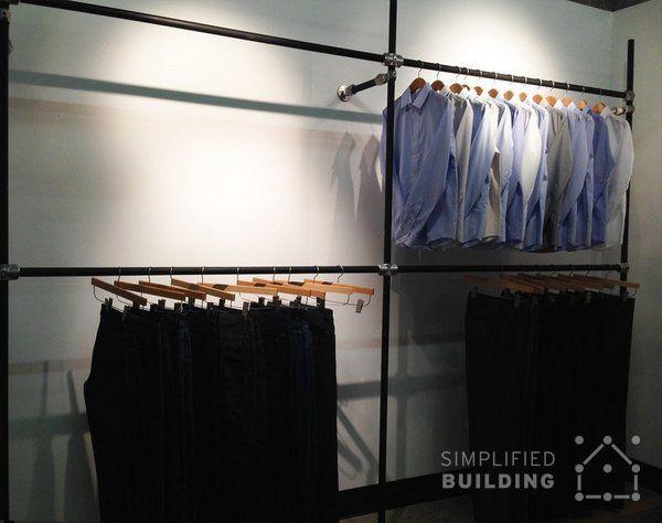 Wall Mounted Clothing Racks How To Use Them Effectively Wall Mounted Clothing Rack Wall Clothing Rack Garment Rack Diy