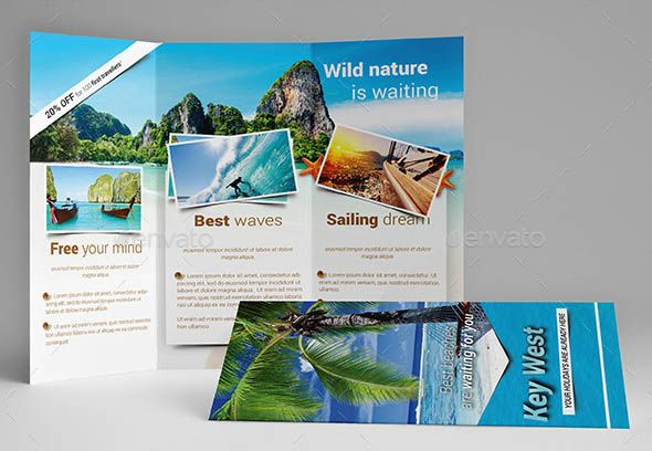 Travel Holiday Trifold Brochure      Brochures