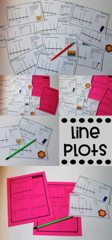 Line plot task cards and quiz ccuart Choice Image