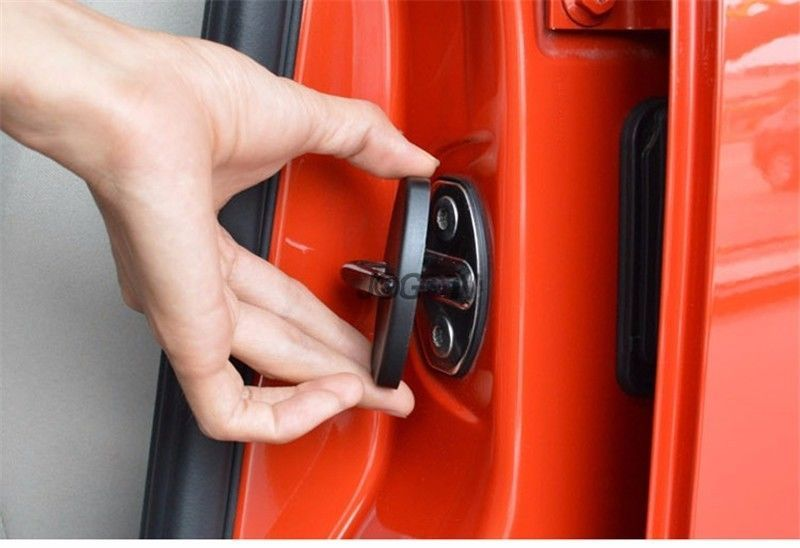 4pcs Car Door Lock Protector Caps Striker Cover For Vw Golf 7 R Gti Gte Gtd Mk7 Car Door Lock Car Door Gti Accessories