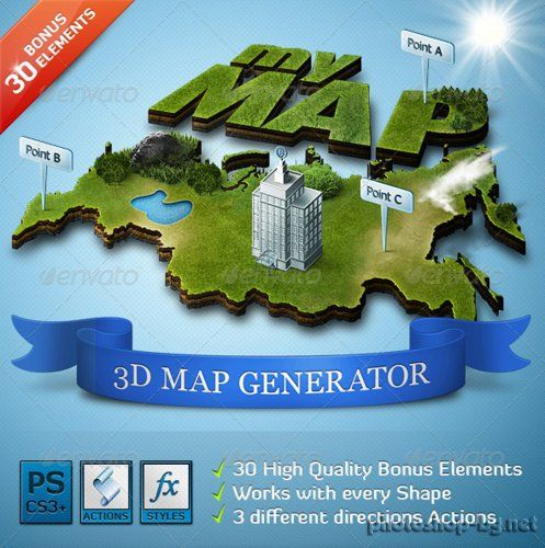 Graphicriver 3d map generator action photoshop tools graphicriver 3d map generator action photoshop tools gumiabroncs Choice Image