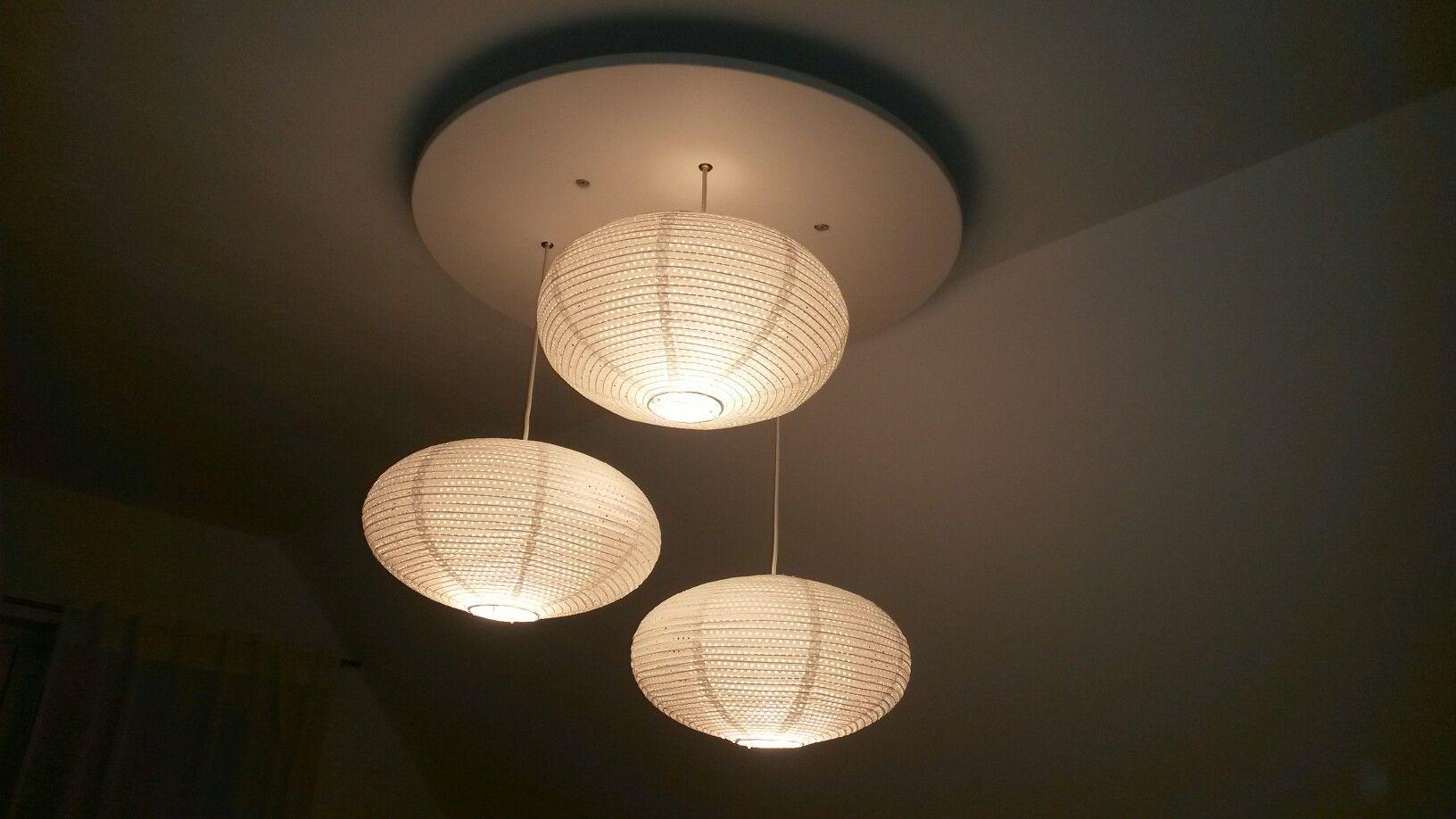 Diy Lampe Mit Ikea Solleftea Lampenschirmen Schlafzimmer Lampe Beleuchtung Ikea