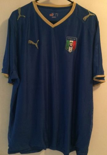 Puma FIGC Italia Italy Football Soccer Blue Home Jersey Men s L Vintage  Rare please retweet e8cfabd1a