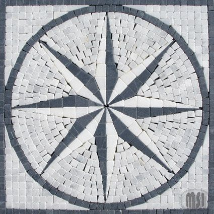 12x12 marble-medallion mosaic wall tiles by MSI Stone