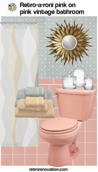 99 Ideas To Decorate A Pink Bathroom Complete Slide Show Pink Bathroom Decor Retro Pink Bathroom Pink Bathroom Tiles