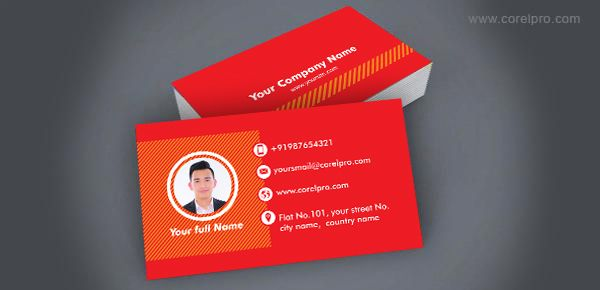 Business Card Template Red With Images Business Cards Creative