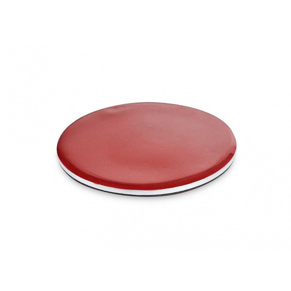Chandos Coaster. Red enamel and polished metal. #tableware #homeware #designinterior #productdesign