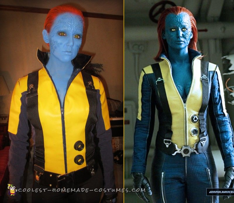 first class mystique costume from x men - Homemade Men Halloween Costumes
