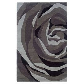 Hand-tufted rug with a grey floral motif.   Product: RugConstruction Material: Latex and cottonColor: GreyFeatures: Hand-tufted Note: Please be aware that actual colors may vary from those shown on your screen. Accent rugs may also not show the entire pattern that the corresponding area rugs have.