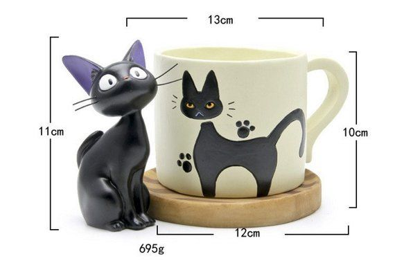 Fairy Garden Planter Pot , Smile Cat and Cup , TOTORO Miniature Ghibli Studio Fairy Supplies Succule is part of Fairy garden Planter -  S455 5cm♥  ·¨¨· Ƹ̵̡Ӝ̵̨̄Ʒ ·¨¨· ♥ Thank You!!! ♥ ·¨¨· Ƹ̵̡Ӝ̵̨̄Ʒ ·¨¨·  ♥