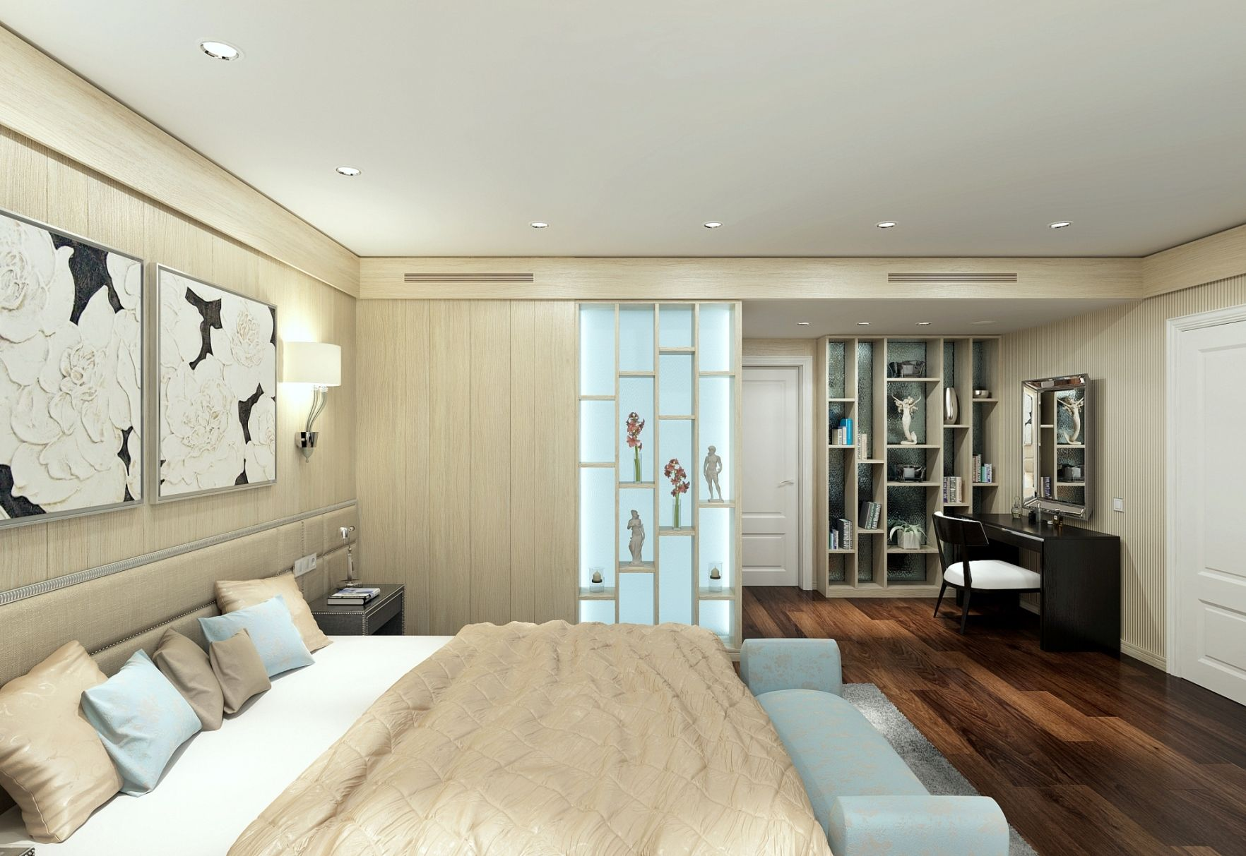 Design Of Master Bedroom Interior For Private House In Castelldefels, 08860  Barcelona Spain. Alexander