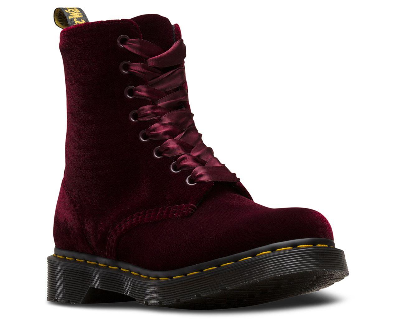 Dr Martens Women S 1460 Pascal Velvet Velvet Boots Boots