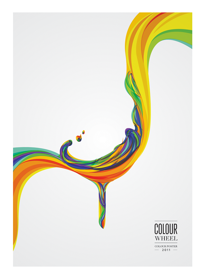 Graphic Design Illustration Colour Wheel Poster