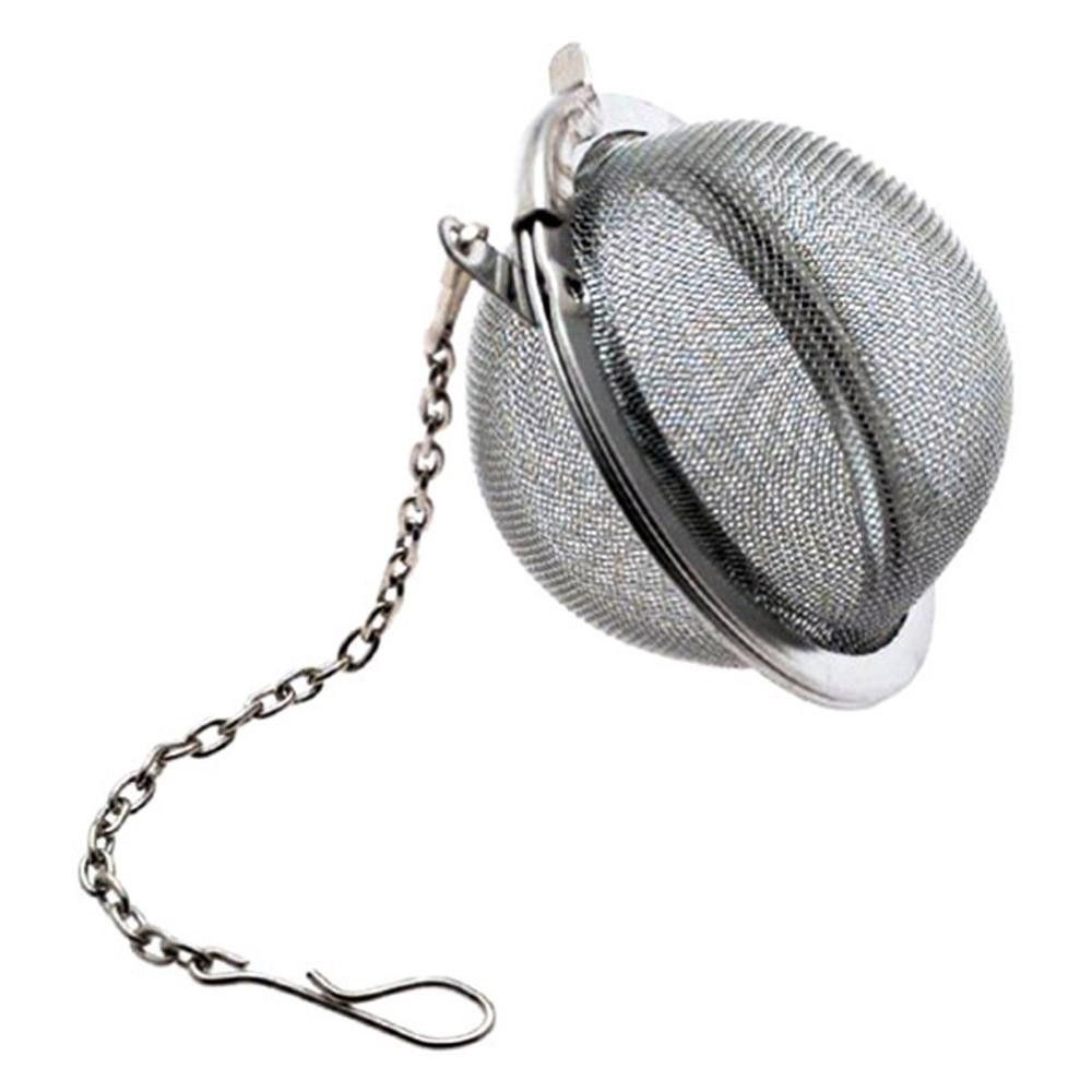Stainless Steel Spoon Tea Ball Infuser Filter Squeeze Leaves Herb Mesh Strainer#