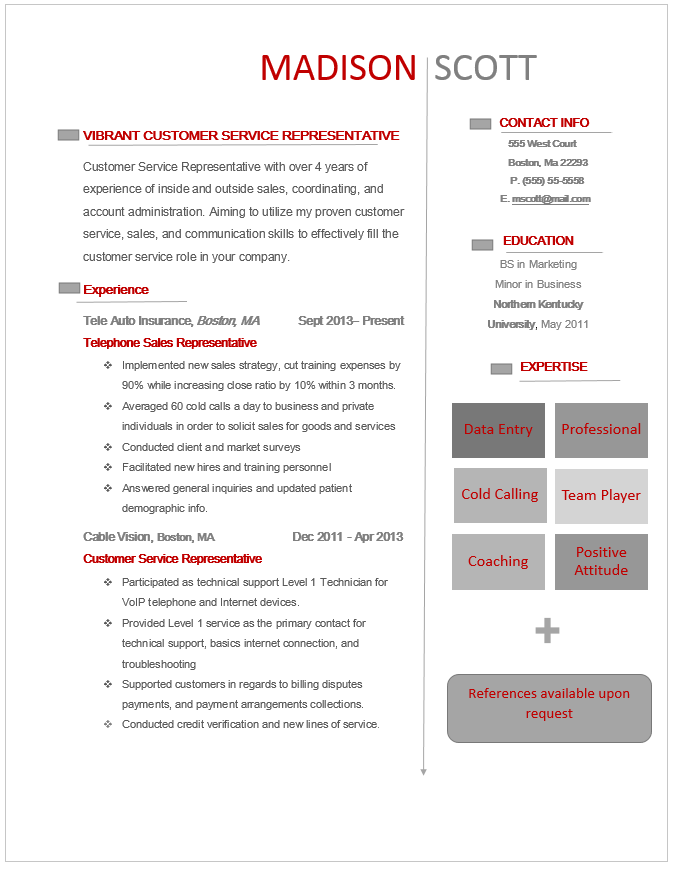 Entry Level Customer Service Resume Inspiration Entry Levelstudent Resume  Modern Resumes  Pinterest  Student .