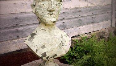 happy 2014!   Sculpture, Outdoor decor, Paper mache