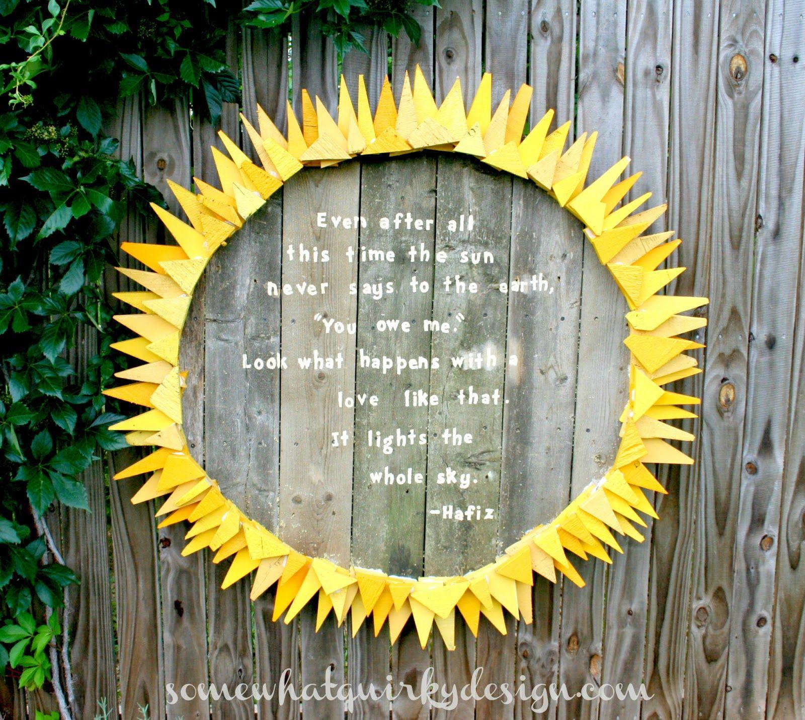 Somewhat Quirky Sun Garden Art  Again