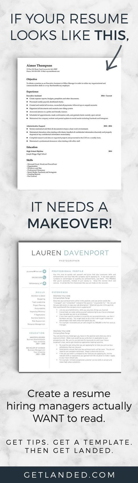 80 of candidates desperately need a resume makeover! Get a resume - perfect font for resume