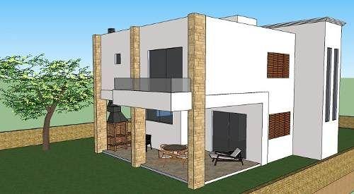 cs140622 1 projeto de casa moderna 2 andares 3 quartos ForCasa Moderna 2 Andares 3 Quartos