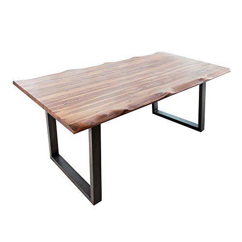 massiver baumstamm tisch genesis 200cm akazie massivholz baumkante esstisch mit kufengestell. Black Bedroom Furniture Sets. Home Design Ideas
