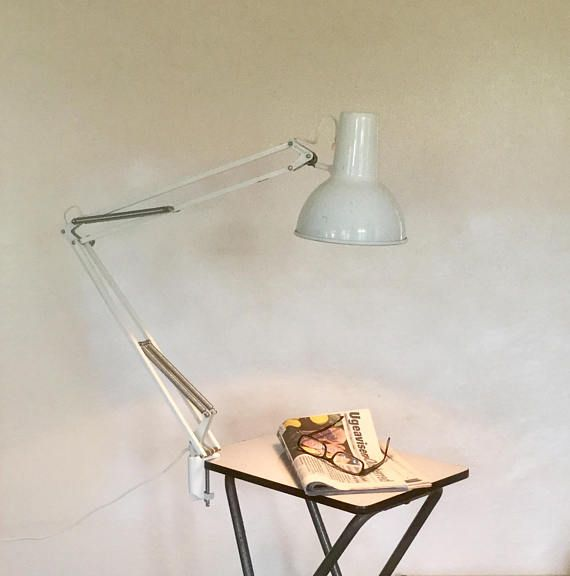 1960 S Norwegian White Luxo L 1p Architect Lamp With Desk Etsy Architect Lamp Lamp Architects Desk