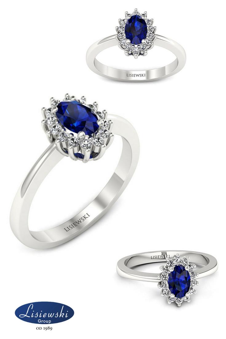 1a21846ffdd661 Pierścionek zaręczynowy z szafirem i diamentami #zaręczyny  #złotypierścionek #szafir #engagementring #sapphire