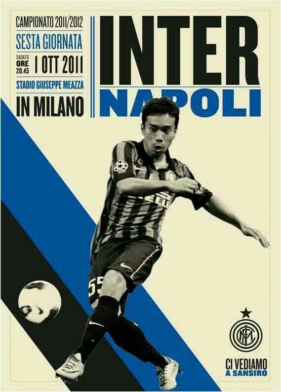 Inter Milan 0 Napoli 3 in Oct 2011 at the San Siro. The programme cover #SerieA