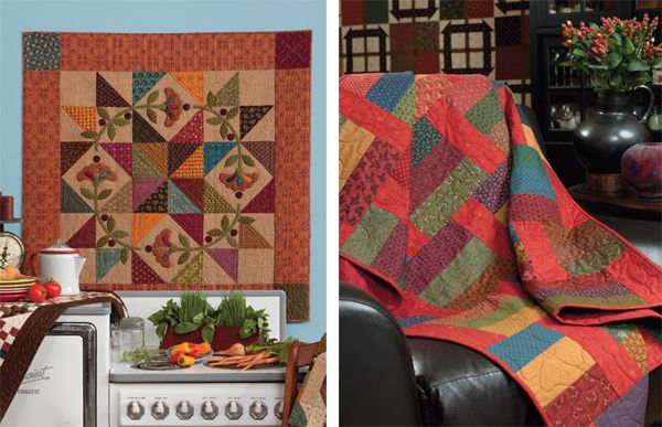 Prairie Star Posies and Penny Pincher Quilts By Kim Dielh luv the floral applique circle over top of the simple locks