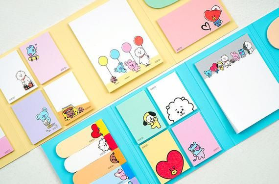 image about Planner Supplies titled BT21 Sticky Notice / BTS BT21 Notepad / Sbooking