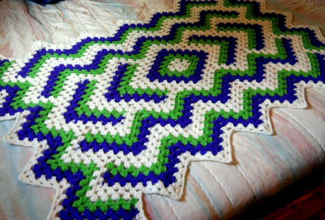 Drop in a Pond Blanket Free pattern