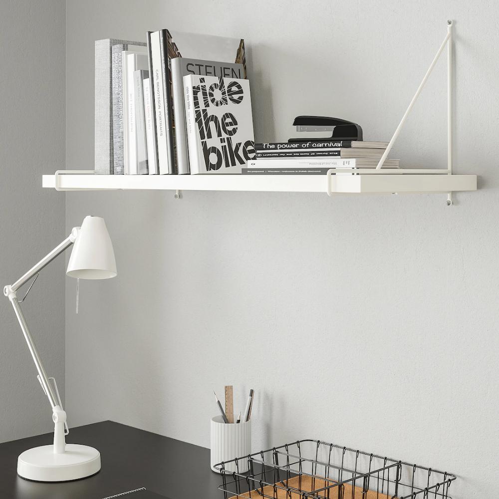 Bergshult Pershult Etagere Murale Blanc Blanc 80x30 Cm En 2020 Etageres Murales Etagere Ikea Et Parement Mural