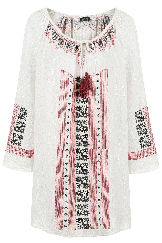 Embroidered Tassel Dress - Swimwear & Beachwear - Clothing - Topshop ...