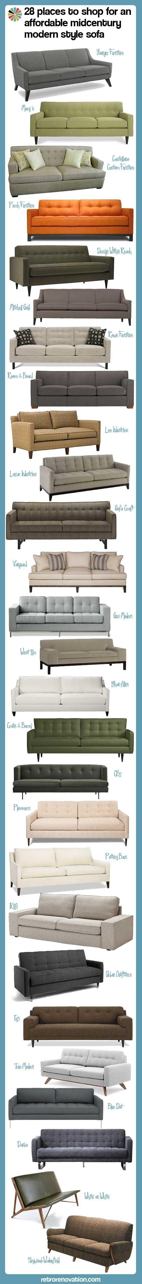 28 affordable mid century modern sofas — Retro Renovation