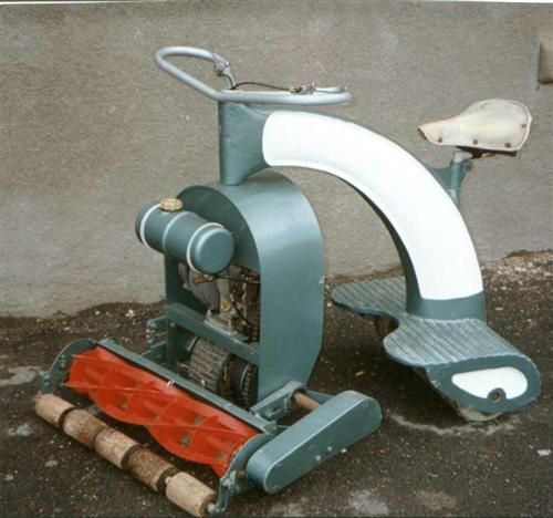 1960 S Anzani Lawn Rider Awesome Reel Lawn Mower