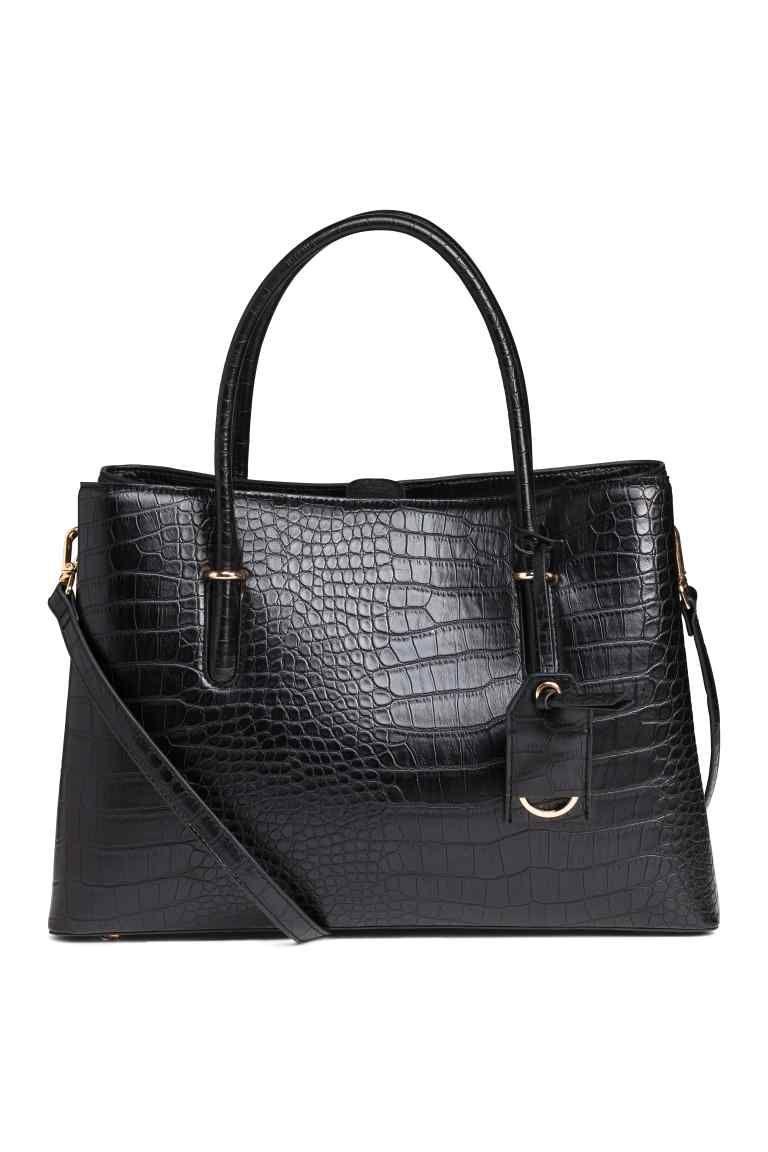 3711563d128 Sac à main grené façon croco - Noir - FEMME | H&M FR 1