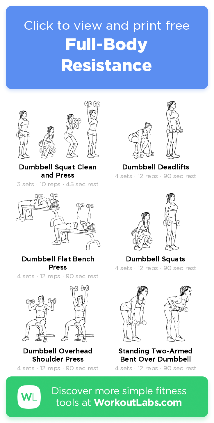 Full-Body Resistance · Free workout by WorkoutLabs Fit