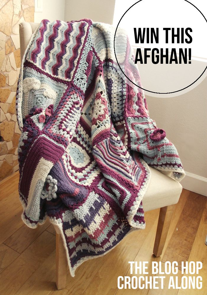 Handmade Afghan Giveaway! Some AWESOME designers each took part in making this gorgeous afghan & 1 lucky person will WIN IT!!! Go enter before you run out of time! Only 6 days left (1/8/14 - 1/13/14) Thanks Ya'll for an awesome giveaway