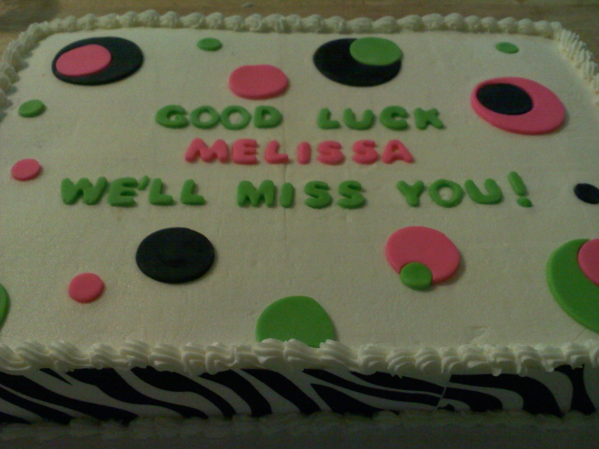 Simple Good Luck Cake Cute Cakes Cake Sweet