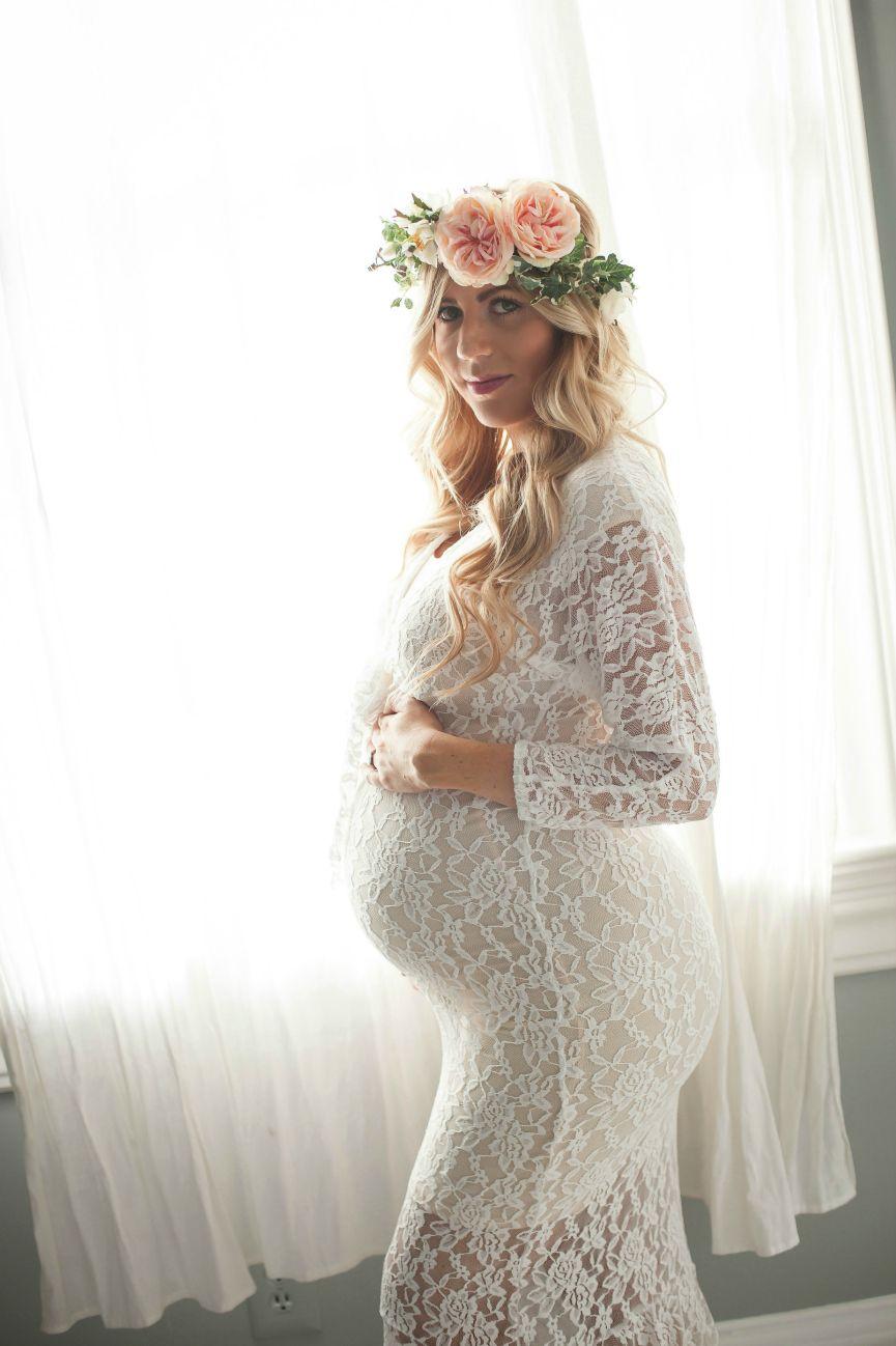 Maternity Photo Shoot White Lace Dress Lace White Dress Fashion Dresses Lace Dress