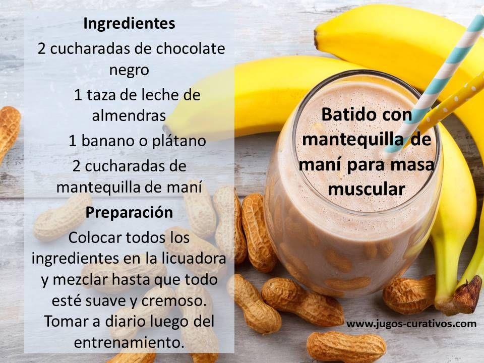 Batido De Mantequilla De Maní Para Masa Muscular Healthy Smooties Food Food And Drink